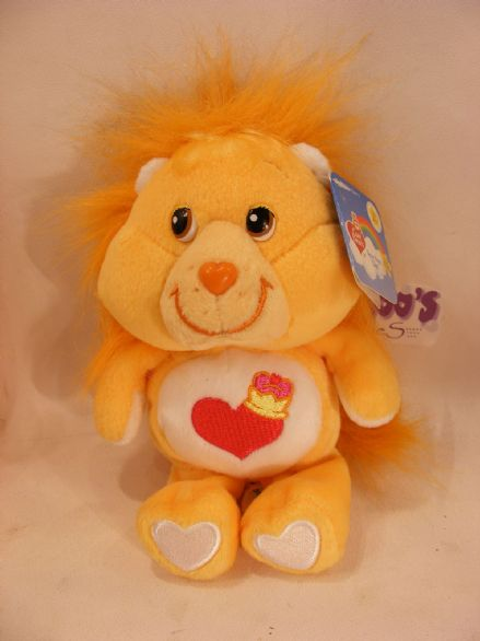 "BNWT 20TH ANNI 8"" BRAVEHEART LION CARE BEARS BEANIE"